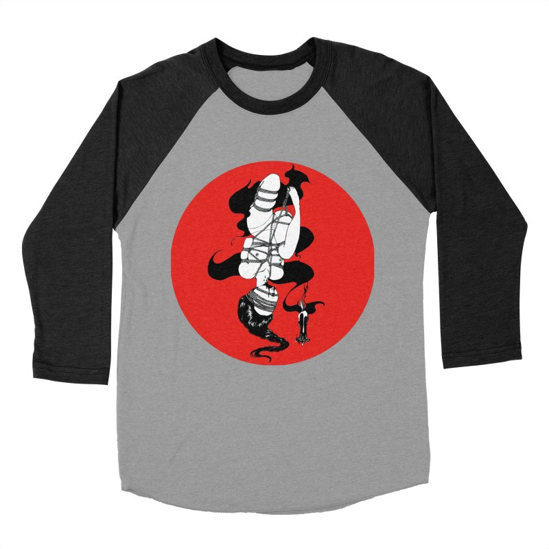 human with red Men's Baseball Triblend Longsleeve T-Shirt by FredRx's Artist Shop