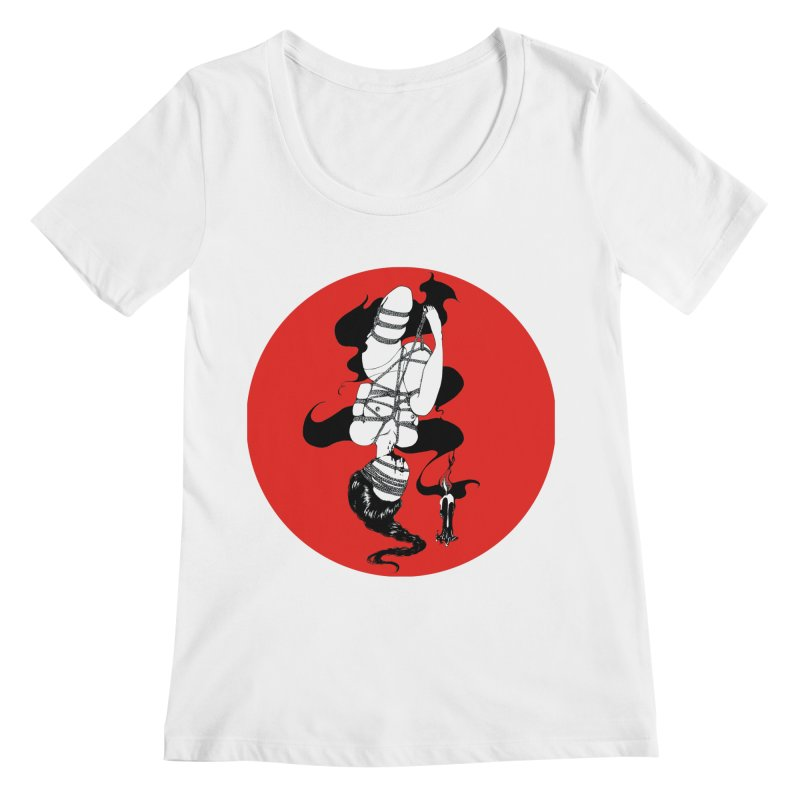 human with red Women's Regular Scoop Neck by FredRx's Artist Shop