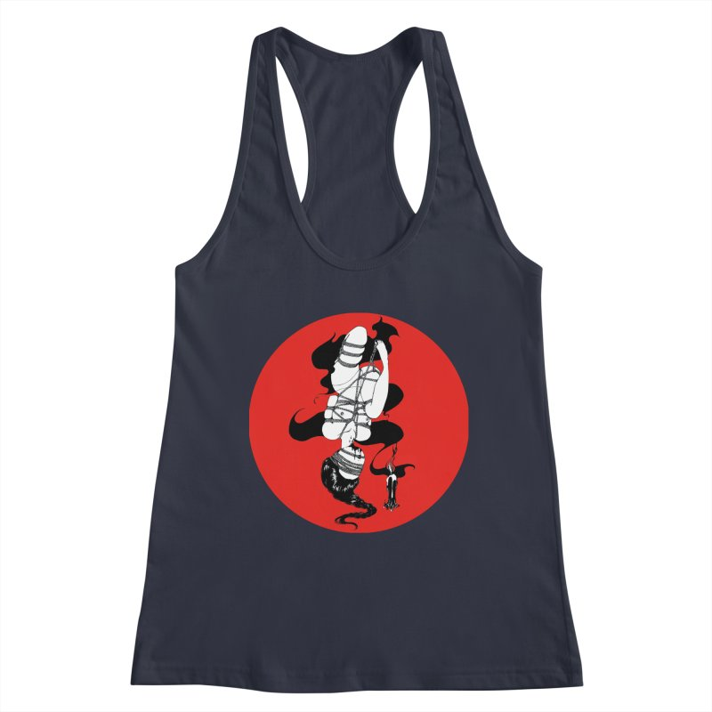 human with red Women's Tank by FredRx's Artist Shop