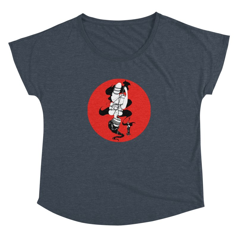 human with red Women's Dolman Scoop Neck by FredRx's Artist Shop