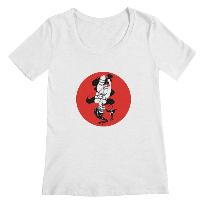 human with red Women's Scoop Neck by FredRx's Artist Shop