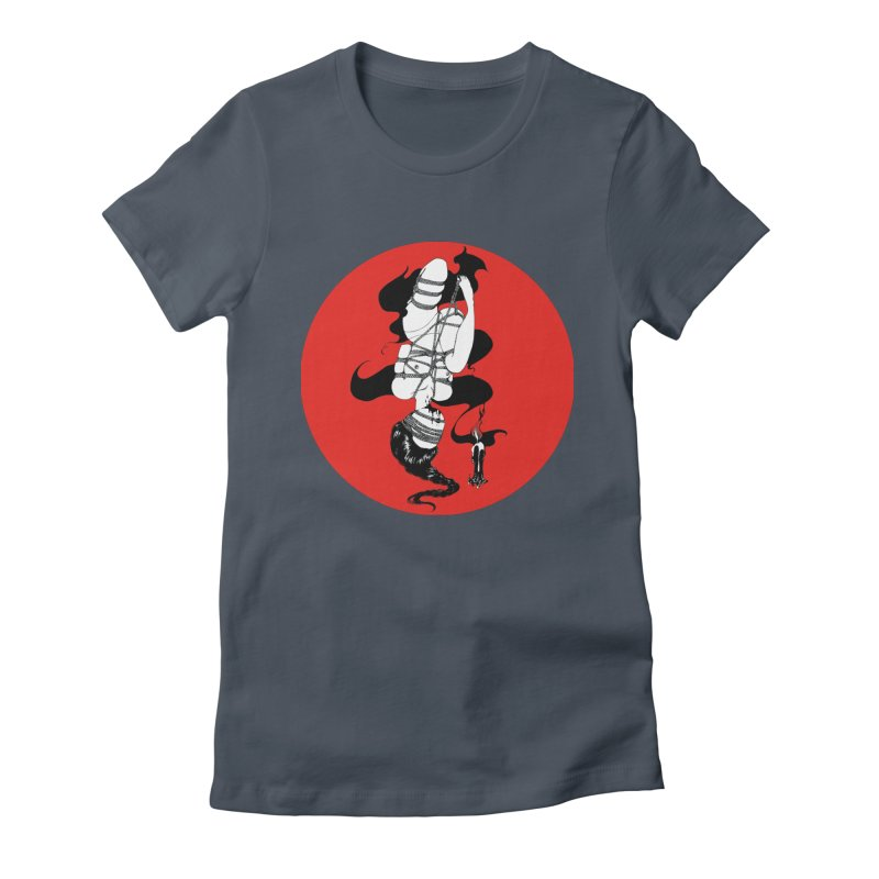 human with red Women's T-Shirt by FredRx's Artist Shop