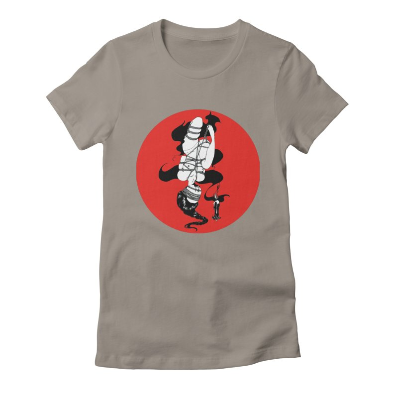 human with red Women's Fitted T-Shirt by FredRx's Artist Shop