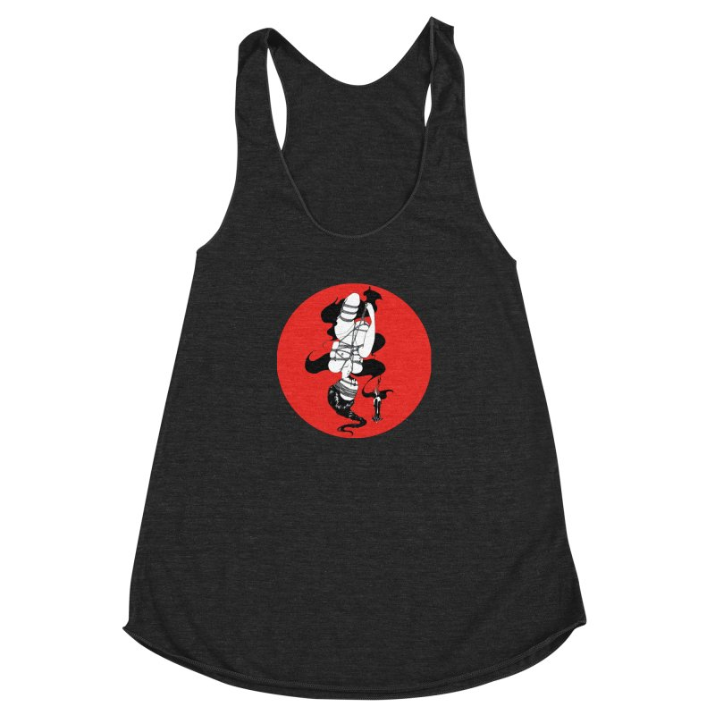 human with red Women's Racerback Triblend Tank by FredRx's Artist Shop