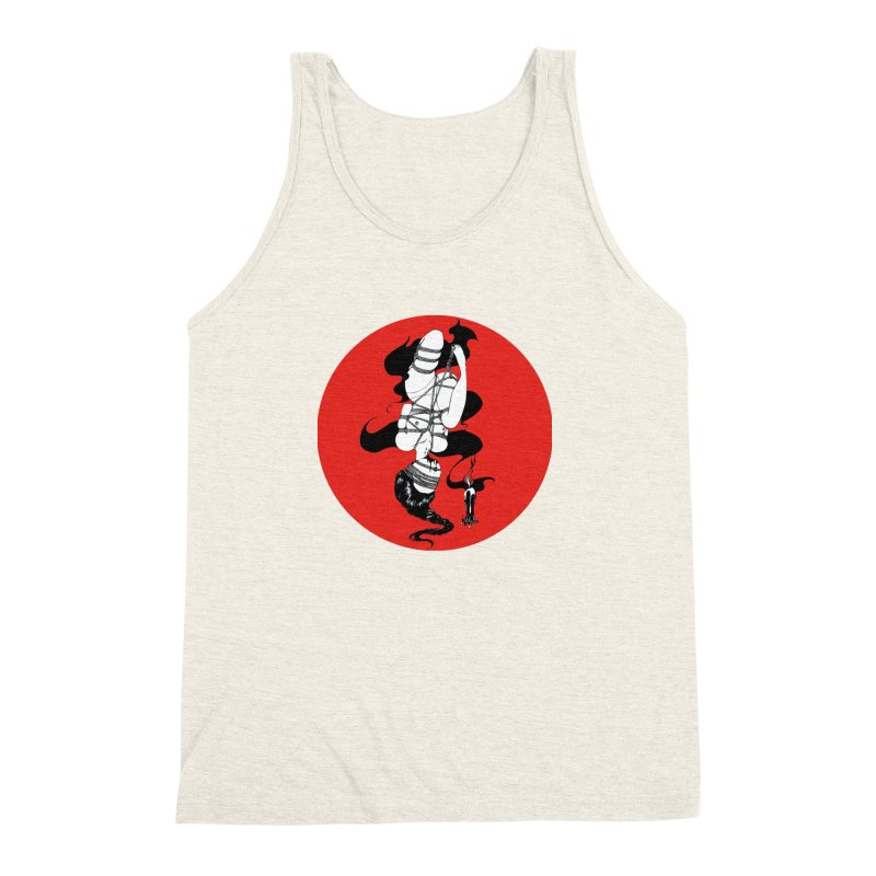 human with red Men's Triblend Tank by FredRx's Artist Shop