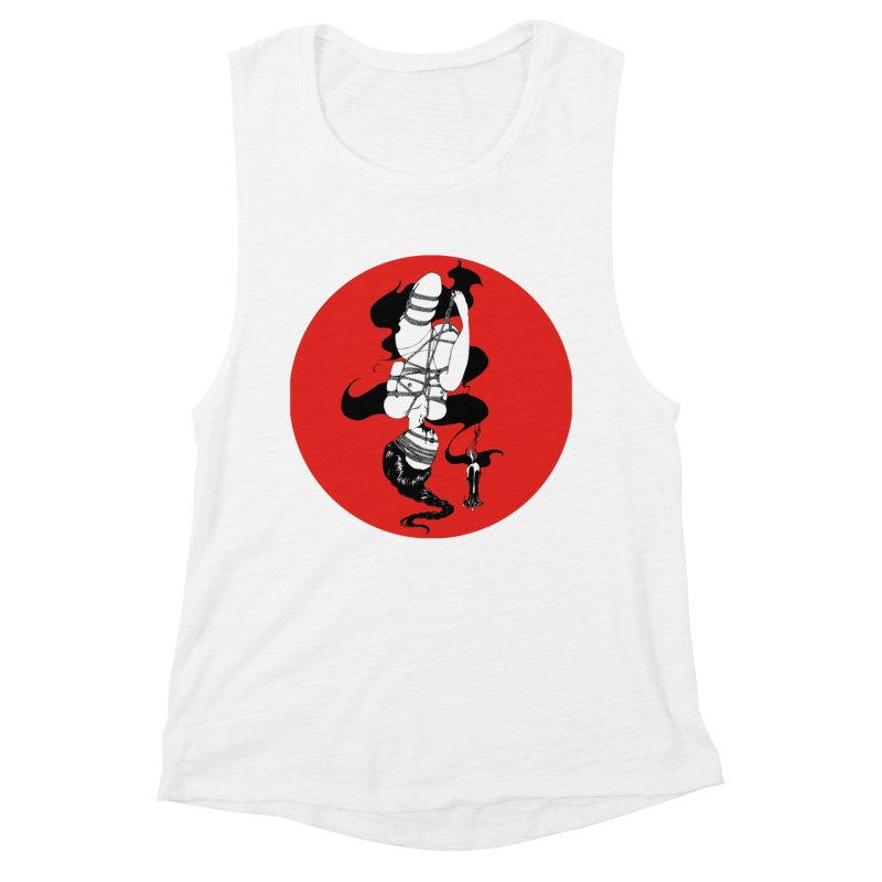 human with red Women's Muscle Tank by FredRx's Artist Shop