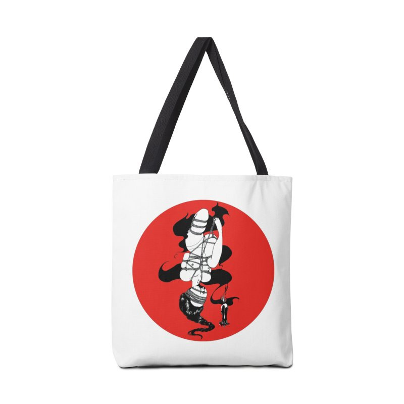 human with red Accessories Tote Bag Bag by FredRx's Artist Shop