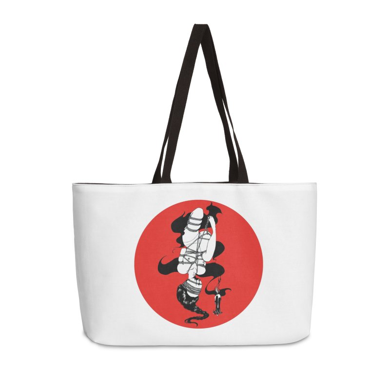 human with red Accessories Bag by FredRx's Artist Shop