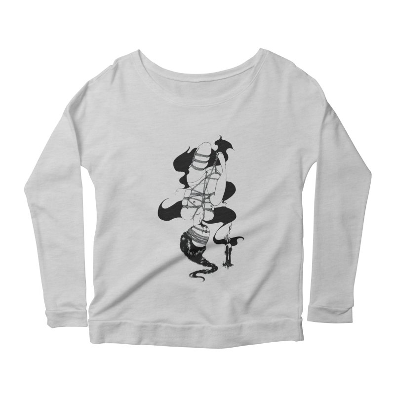 human Women's Scoop Neck Longsleeve T-Shirt by FredRx's Artist Shop