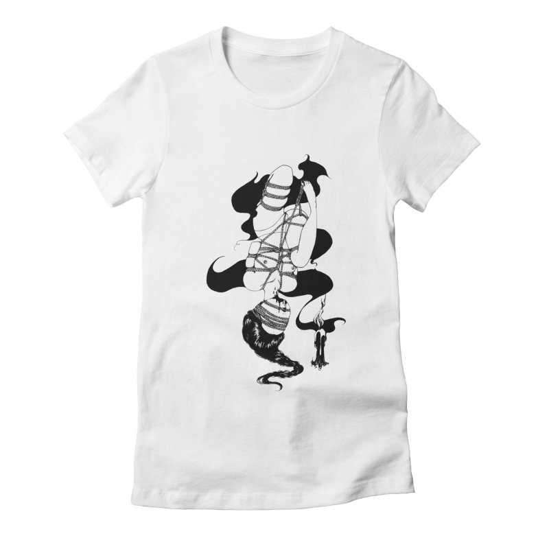 human Women's Fitted T-Shirt by FredRx's Artist Shop