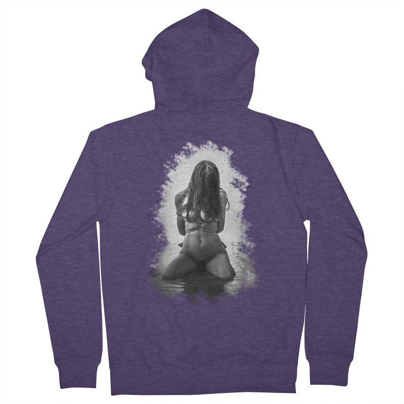 beach bondage Men's French Terry Zip-Up Hoody by FredRx's Artist Shop