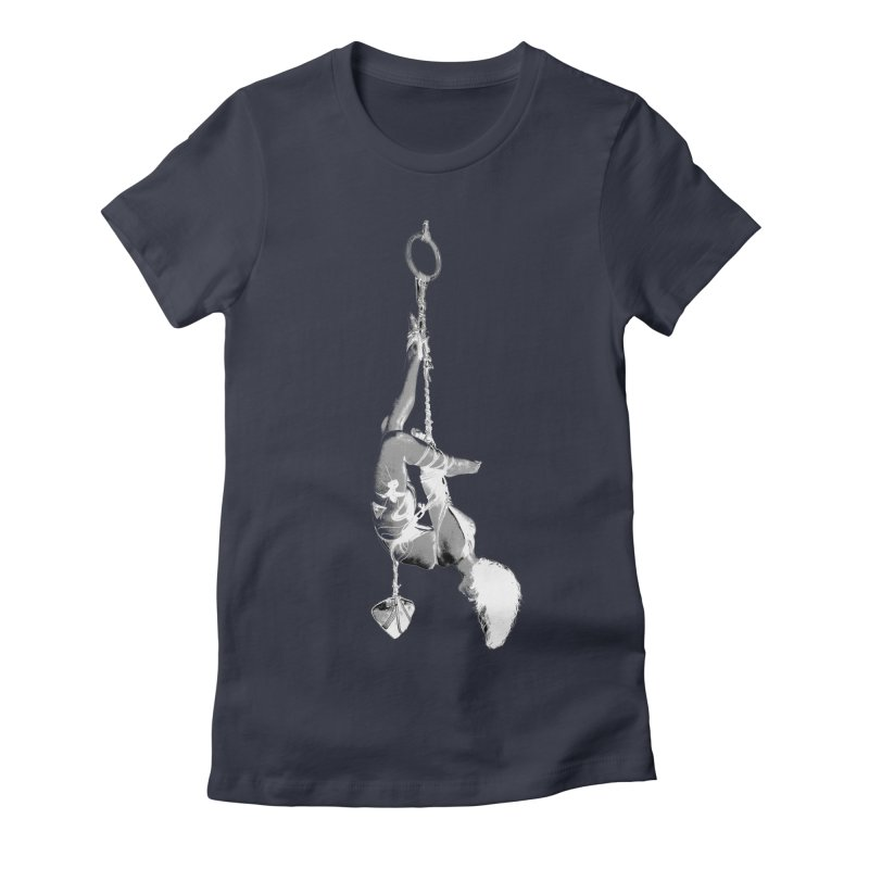snow bondage Women's Fitted T-Shirt by FredRx's Artist Shop