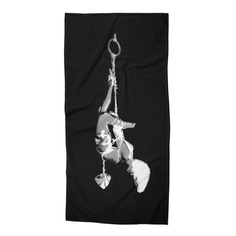 snow bondage Accessories Beach Towel by FredRx's Artist Shop