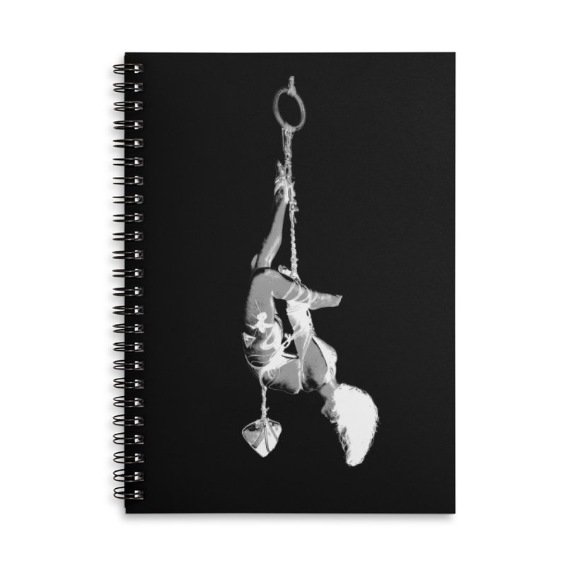 snow bondage Accessories Lined Spiral Notebook by FredRx's Artist Shop