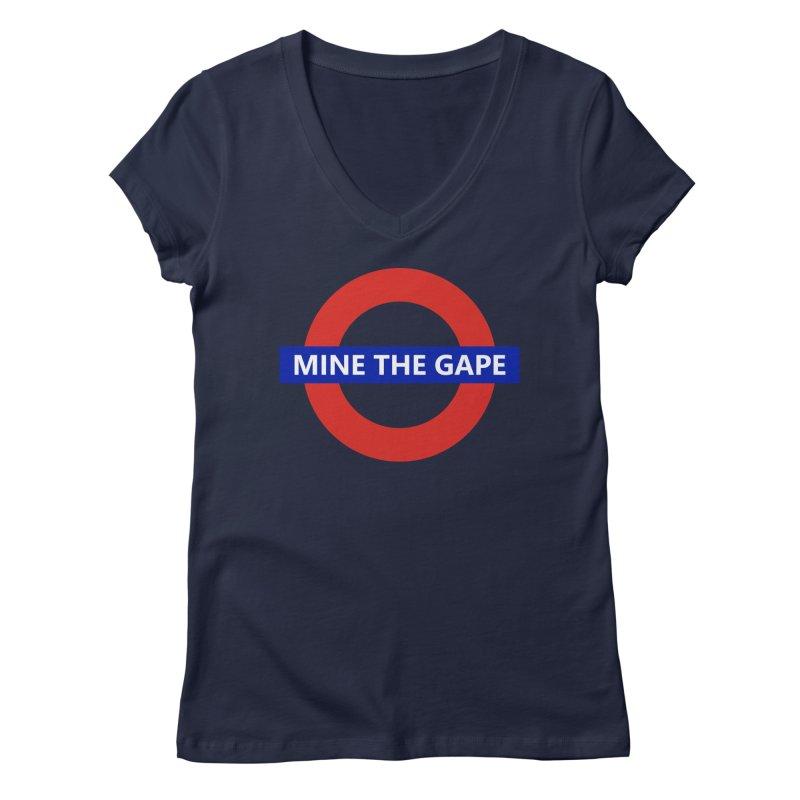 mind the gape Women's V-Neck by FredRx's Artist Shop
