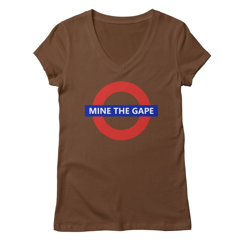 mind the gape Women's V-Neck by FredRx's Artist Shop