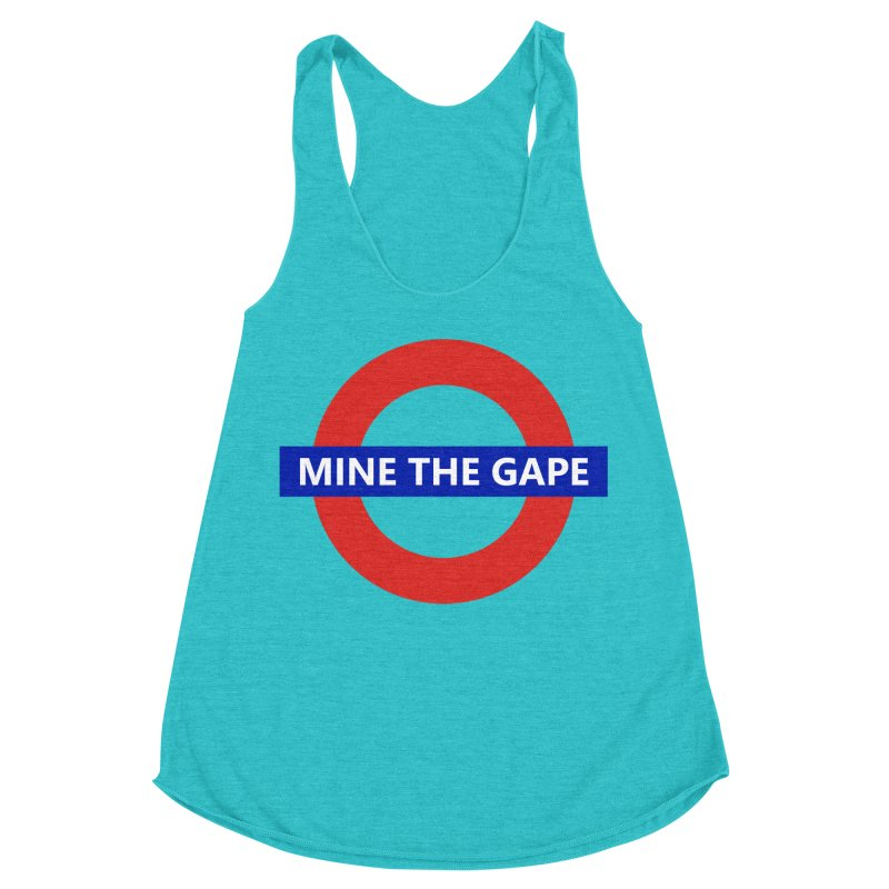 mind the gape Women's Racerback Triblend Tank by FredRx's Artist Shop