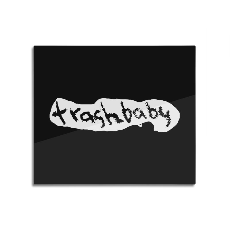 trashbaby Home Mounted Aluminum Print by FredRx's Artist Shop