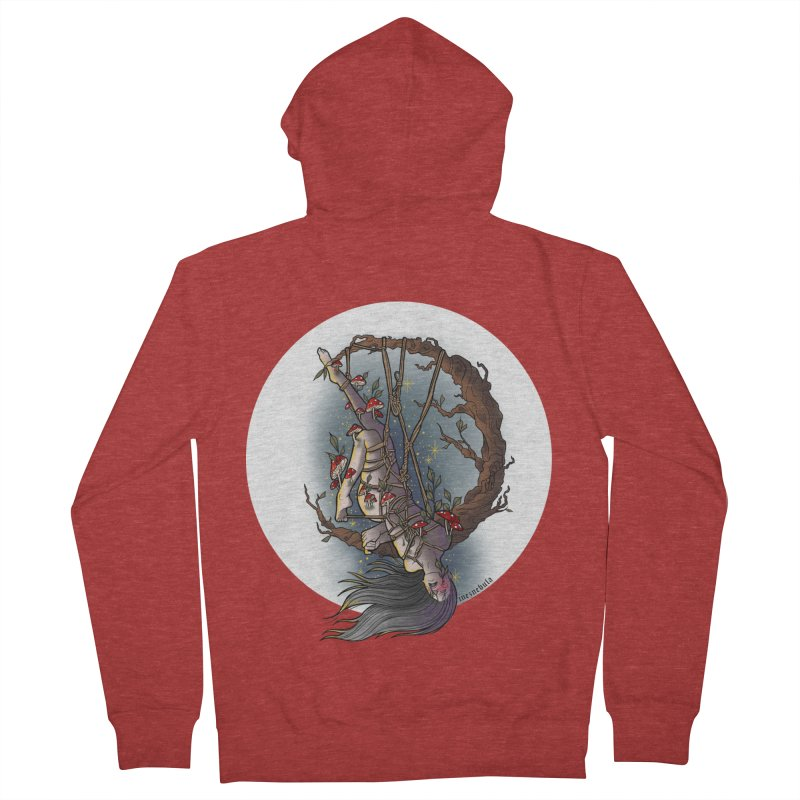 shroom rope Women's French Terry Zip-Up Hoody by FredRx's Artist Shop