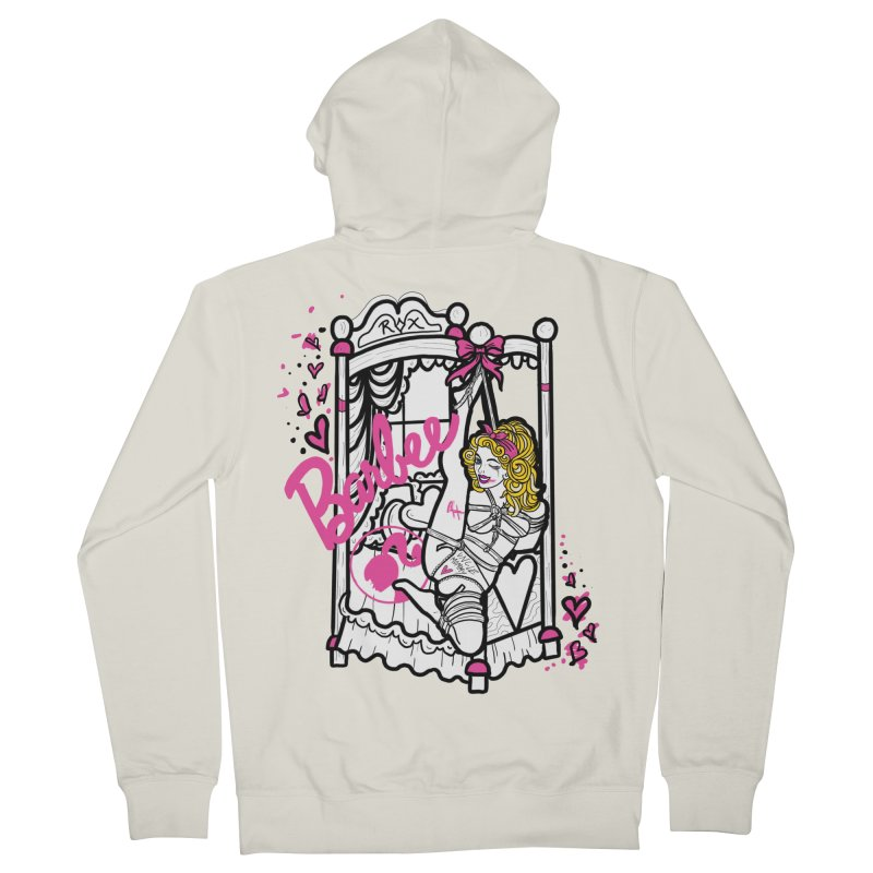 barbee doll Women's French Terry Zip-Up Hoody by FredRx's Artist Shop
