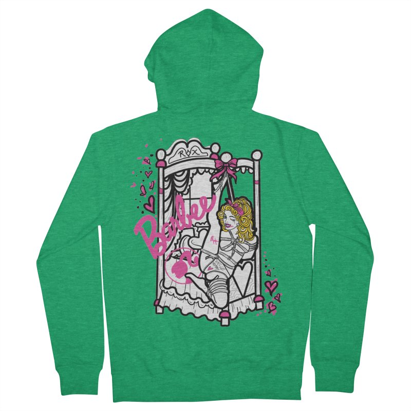 barbee doll Men's Zip-Up Hoody by FredRx's Artist Shop