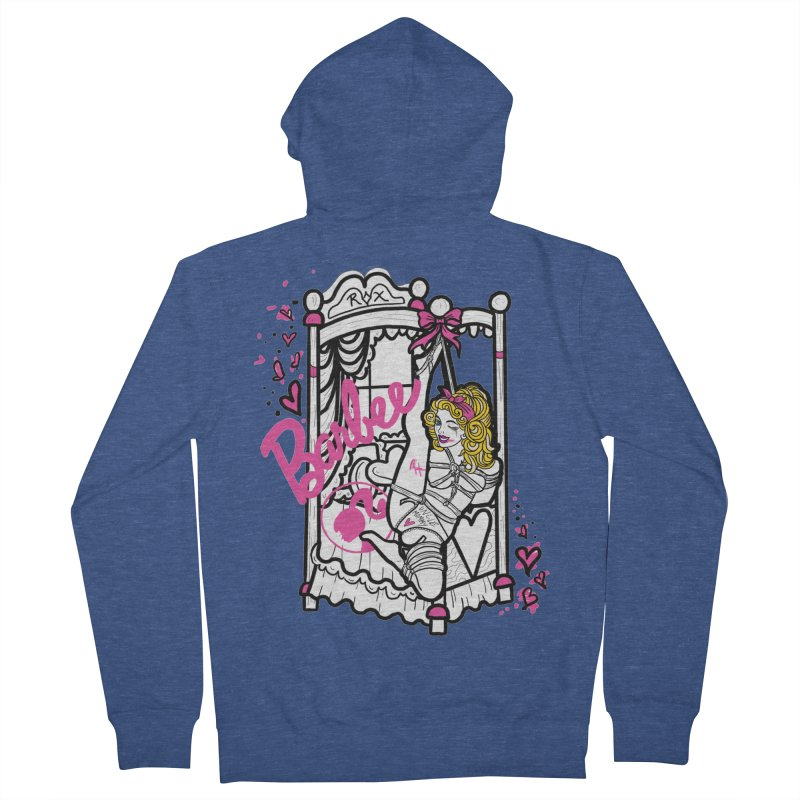 barbee doll Men's French Terry Zip-Up Hoody by FredRx's Artist Shop