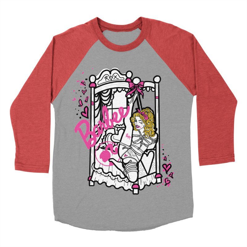 barbee doll Men's Baseball Triblend Longsleeve T-Shirt by FredRx's Artist Shop