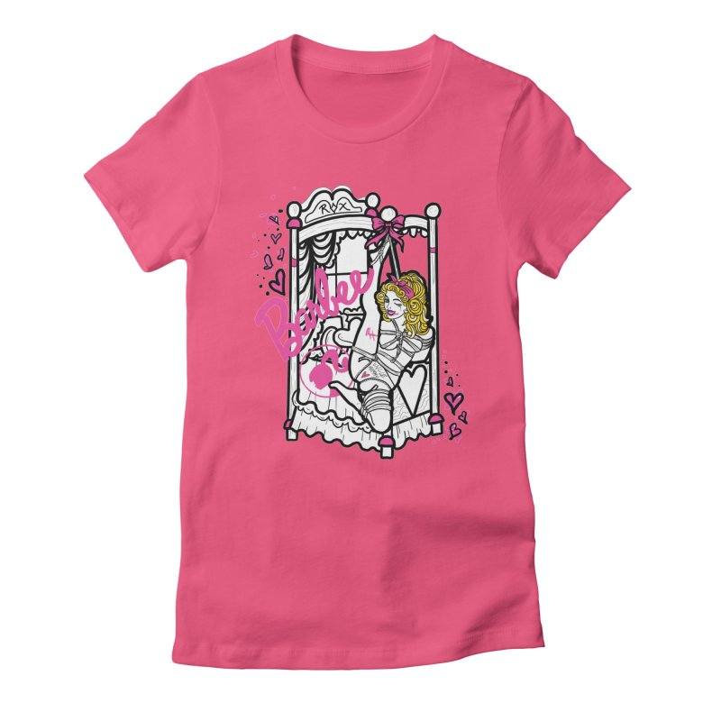 barbee doll Women's Fitted T-Shirt by FredRx's Artist Shop