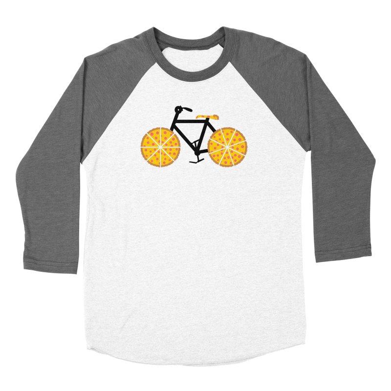 Pizza Bike Women's Longsleeve T-Shirt by Coffee Pine Studio