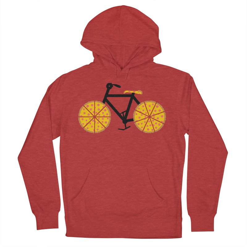 Pizza Bike Men's French Terry Pullover Hoody by Coffee Pine Studio
