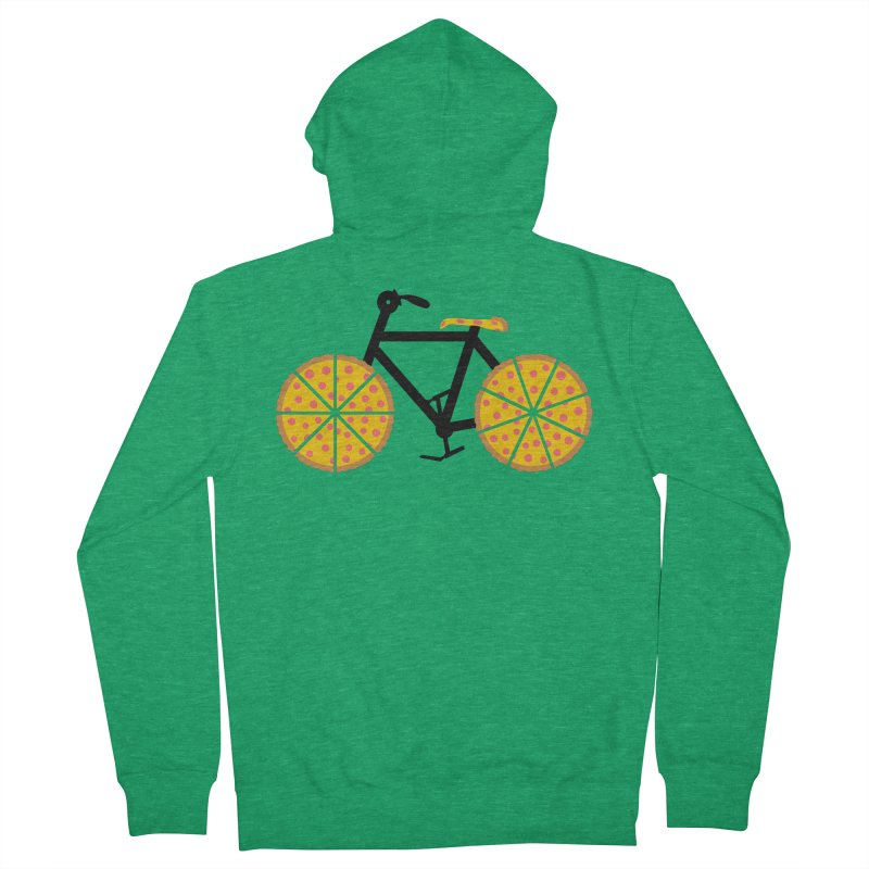 Pizza Bike Women's Zip-Up Hoody by Coffee Pine Studio