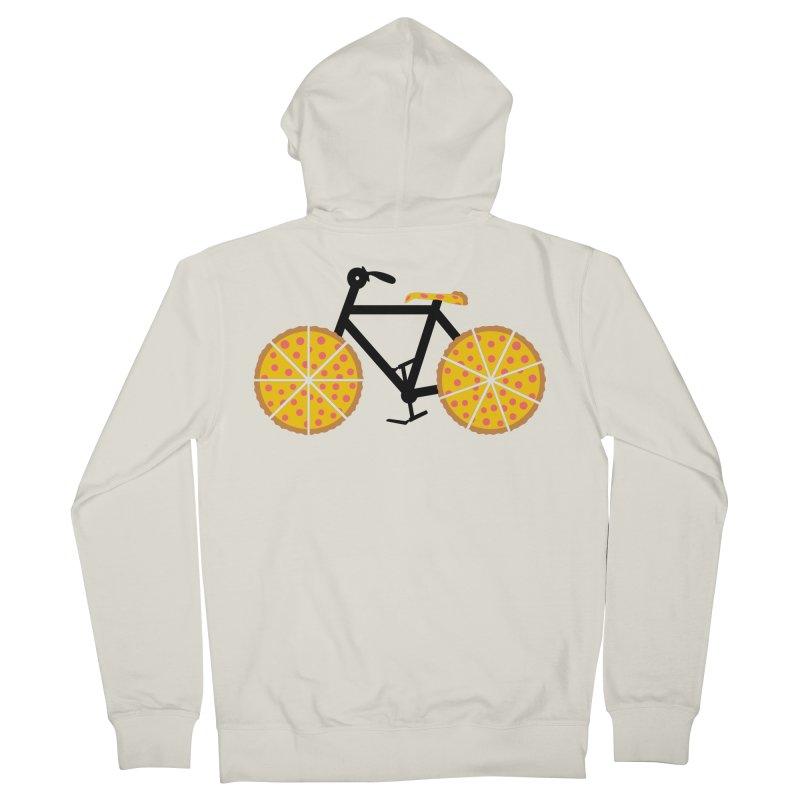 Pizza Bike Women's French Terry Zip-Up Hoody by Coffee Pine Studio