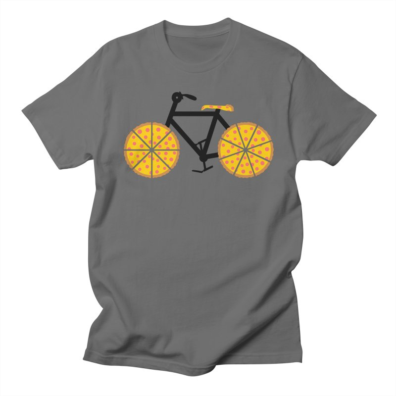 Pizza Bike Men's T-Shirt by Coffee Pine Studio