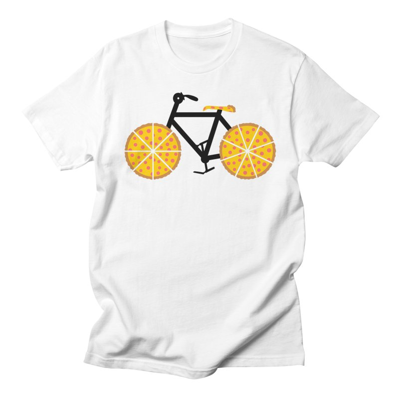 Pizza Bike in Men's Regular T-Shirt White by Coffee Pine Studio