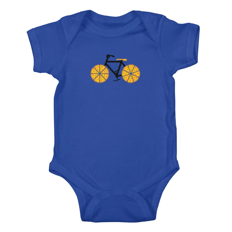 Pizza Bike Kids Baby Bodysuit by Coffee Pine Studio