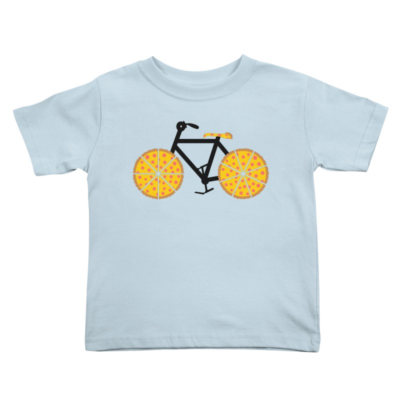 Pizza Bike Kids Toddler T-Shirt by Coffee Pine Studio