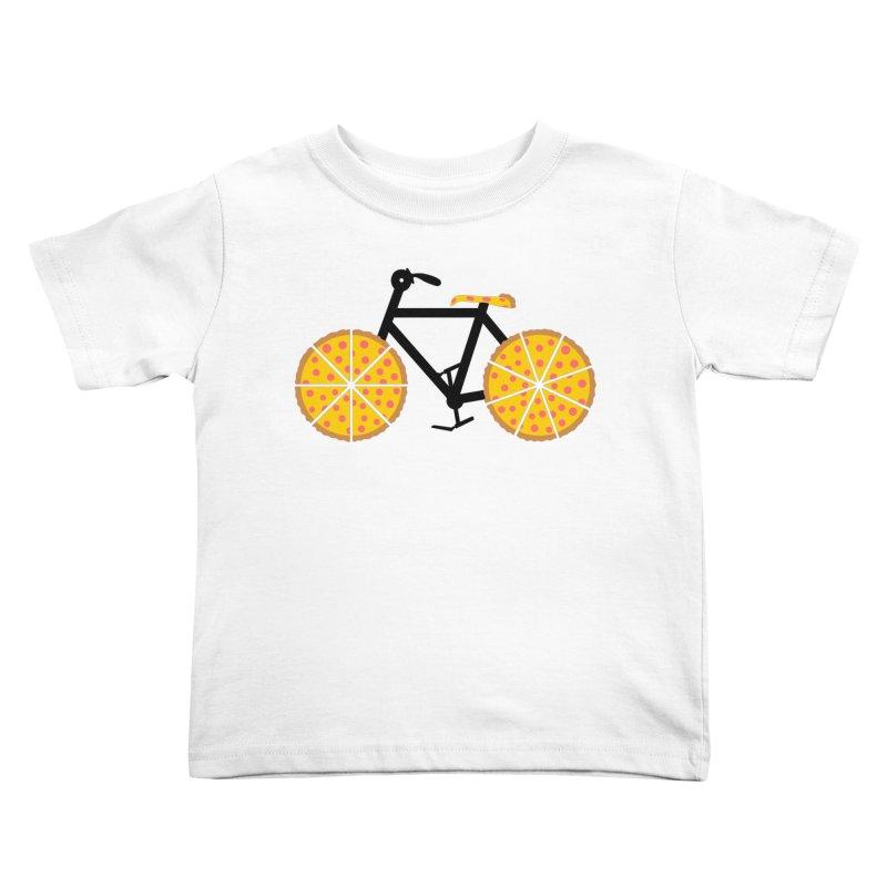 Pizza Bike Kids Toddler T-Shirt by Coffee Pine Studio