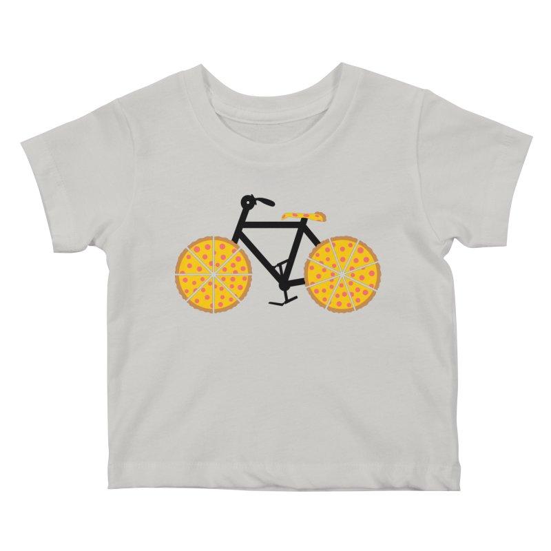 Pizza Bike Kids Baby T-Shirt by Coffee Pine Studio