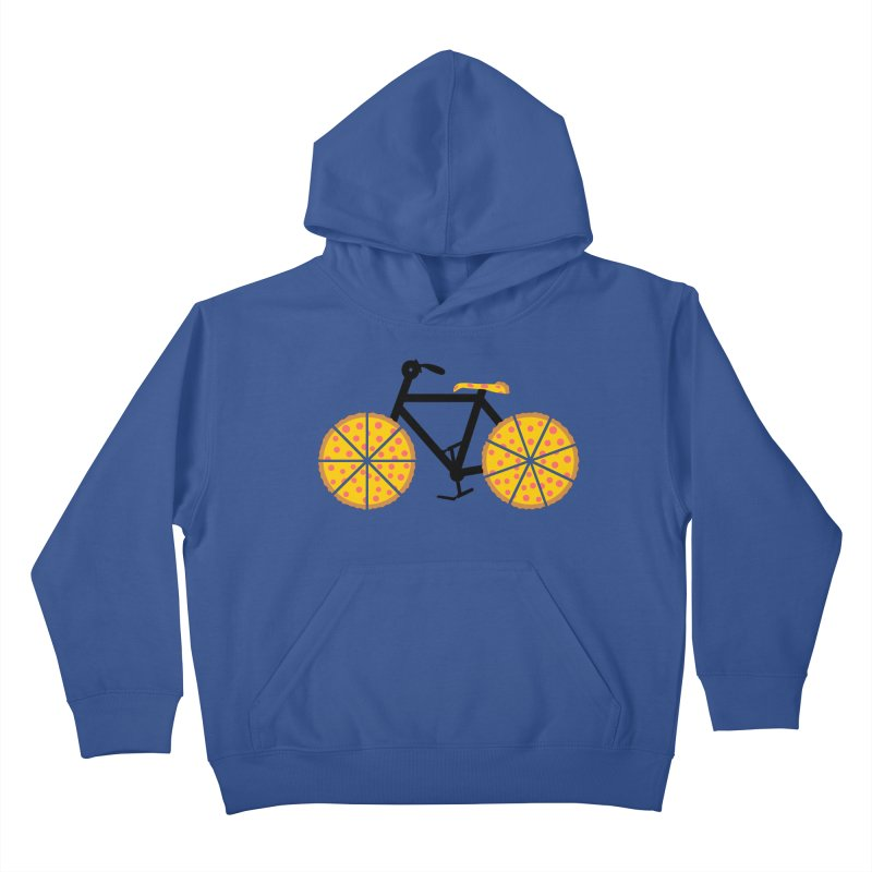 Pizza Bike Kids Pullover Hoody by Coffee Pine Studio