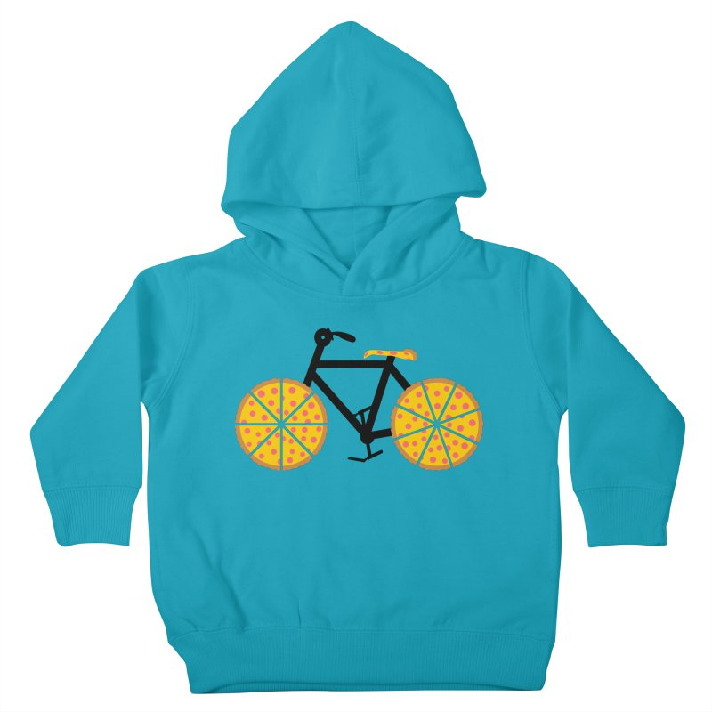Pizza Bike Kids Toddler Pullover Hoody by Coffee Pine Studio