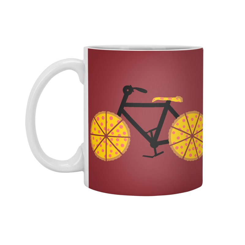 Pizza Bike Accessories Mug by Coffee Pine Studio