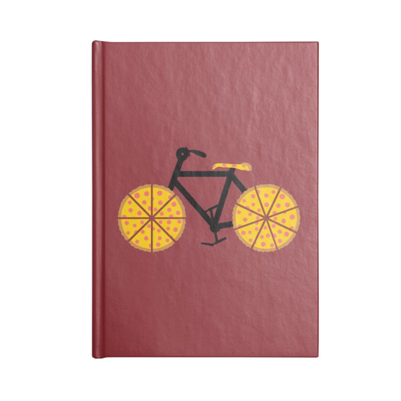 Pizza Bike Accessories Lined Journal Notebook by Coffee Pine Studio