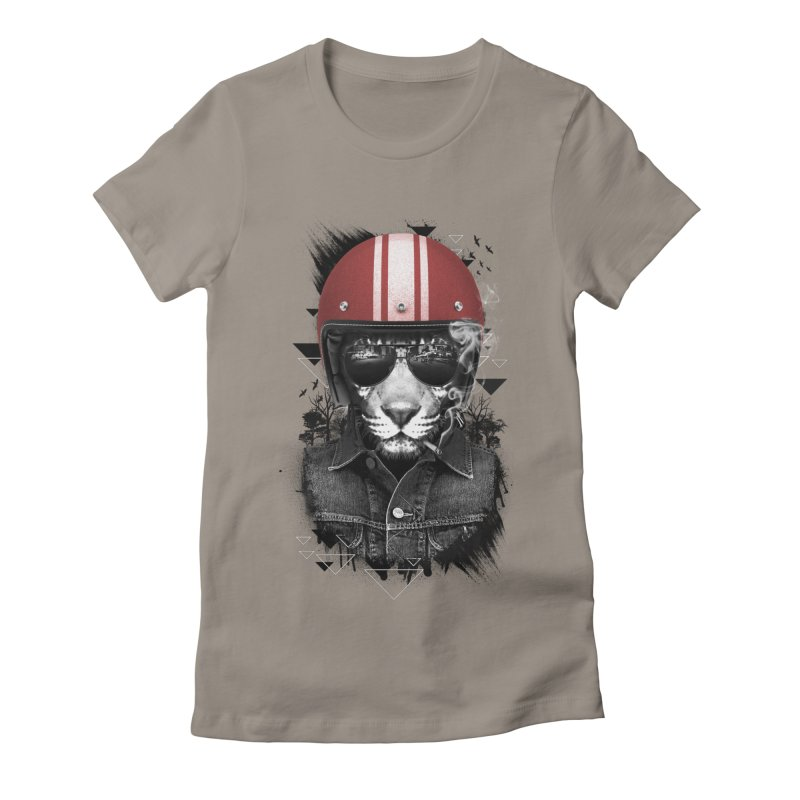 Jungle Rider Women's Fitted T-Shirt by freeagent08's Artist Shop