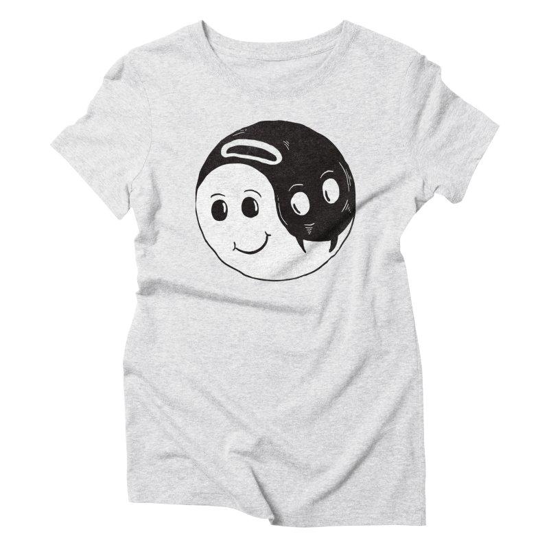 Good Evil Women's Triblend T-Shirt by freeagent08's Artist Shop
