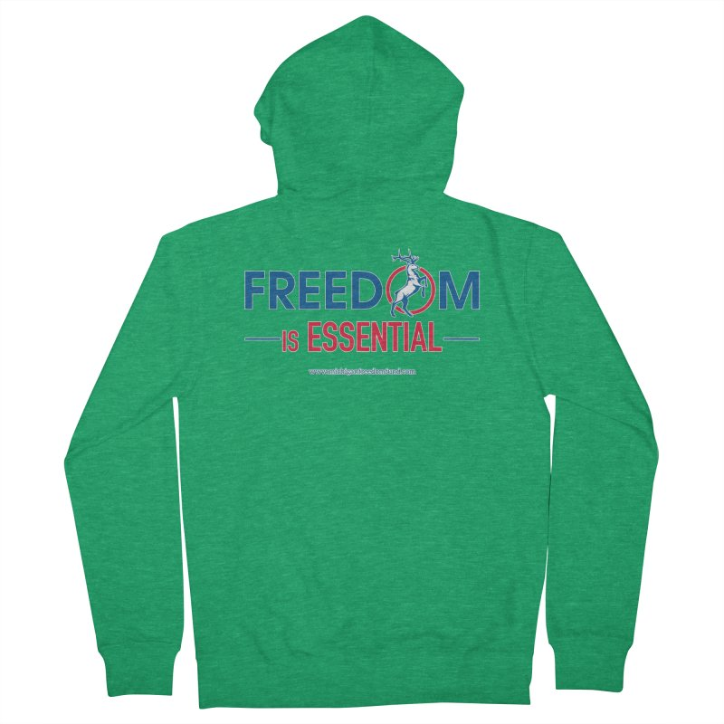FREEDOM is Essential Women's Zip-Up Hoody by Freedom Gear