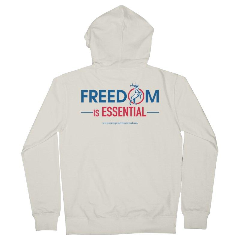 FREEDOM is Essential Men's Zip-Up Hoody by Freedom Gear