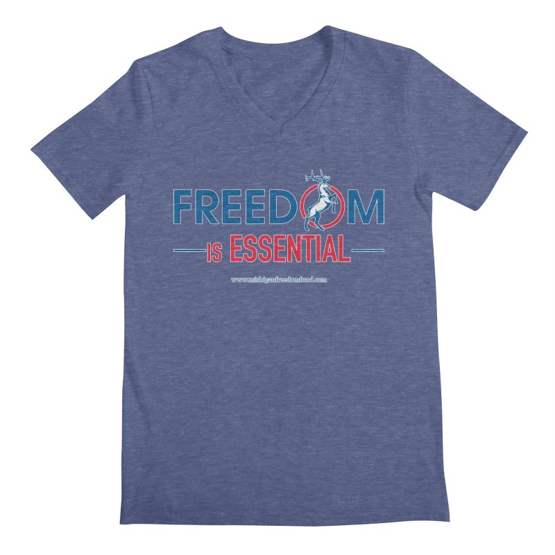 FREEDOM is Essential Men's V-Neck by Freedom Gear