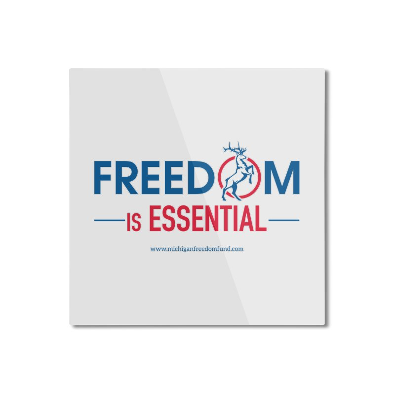 FREEDOM is Essential Home Mounted Aluminum Print by Freedom Gear