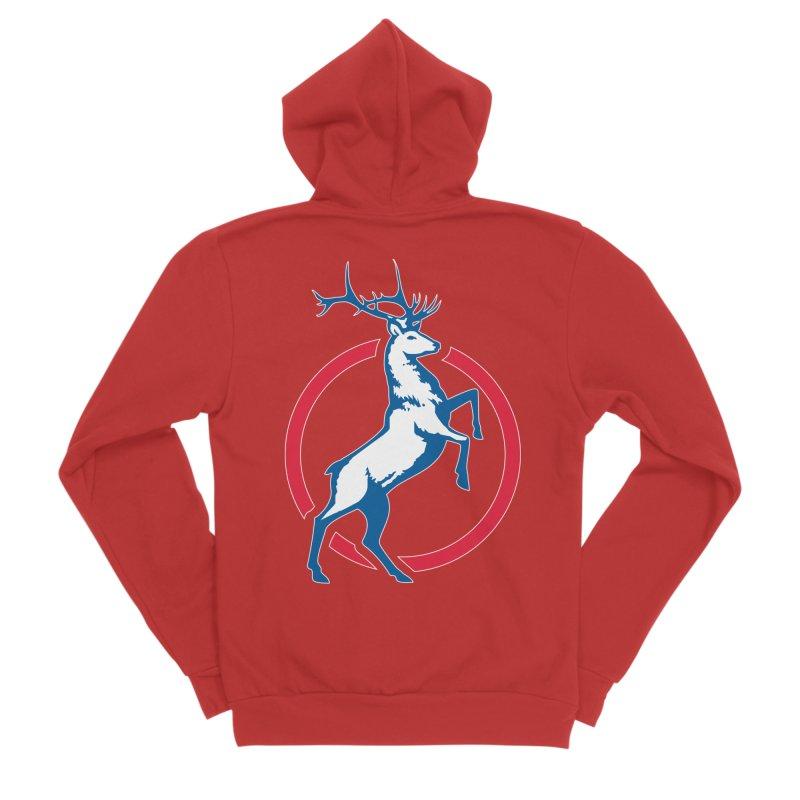 Elk Circle Logo Men's Zip-Up Hoody by Freedom Gear