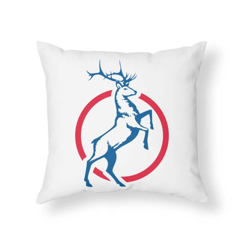 Elk Circle Logo Home Throw Pillow by Freedom Gear